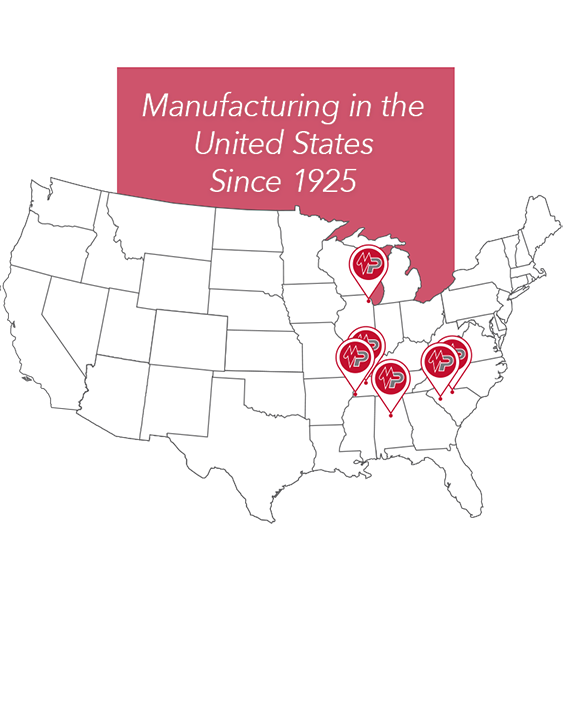 USA Manufacturing Locations for Electric Power Utility Product Production